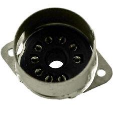 9 Pin Black Vacuum Tube Socket, Solder Mount with Shield Base Top Mount