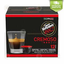 Caffè Vergnano Capsule Cialde Compatibili Nescafè Dolce Gusto Cremoso 72 Capsule
