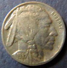 Vintage 1937 INDIAN HEAD/BUFFALO NICKEL, Fine Details, Philadelphia Mint Coin #4