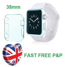 Blue Slim Thin Hard Snap On Case Cover Screen Protector Apple Watch iWatch 38MM
