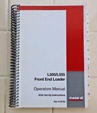 CASE C CX MX SERIES TRACTOR L505 L555 LOADER OPERATORS MANUAL 220+ PAGES MINTY