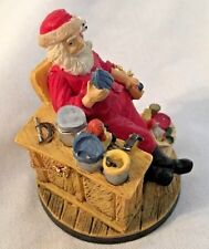 "Multi 2 1/2"" Norman Rockwell Santa Relaxing Ornament Figurine"