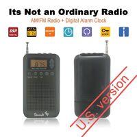 Portable Pocket AM FM Radio Mini Alarm Clock And Sleep Timer Digital SoundsB UB