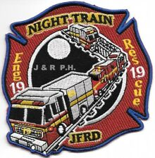 "Jacksonville  Station - 19, Florida  ""Night Train"" (4"" x 4"" size) fire patch"