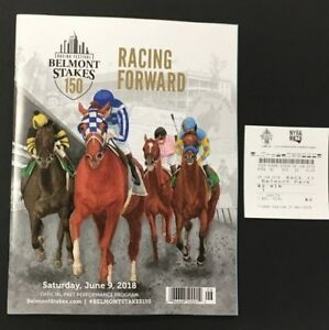 2018 150th Belmont Stakes Justify Triple Crown Winner Program + Winning Ticket