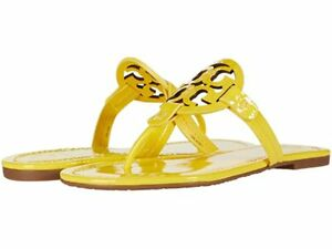 NIB Tory Burch  Naplak Patent Miller Sandals Limone Yellow Sz 8