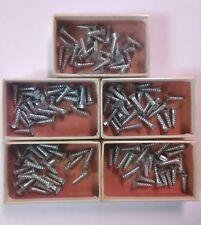 """Flat Head Zinc Plated Wood Screws 1/2"""" x 4 - Qty 128 ~ TS"""