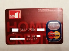 HOME CREDIT BANK MASTERCARD RUSSIA CREDIT CARD USED EXPIRED FOR COLLECTION