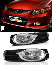 12-13 Honda Civic Fog Lights 2 DOOR Coupe Clear Lens Front Bumper Lamps Full Kit