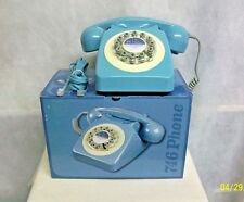 "UK WILD & WOLF BRITISH RETRO TELEPHONE THE ""746""- 1960's STYLE FRENCH BLUE PHONE"