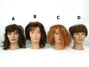 Vintage Pivot Point Fromm Marianna Miss Kim Mannequin Heads Real Human Hair