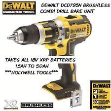 DEWALT DCD795 DCD795N XR 18V BRUSHLESS 2 SPEED HAMMER DRILL CORDLESS BODY ONLY N