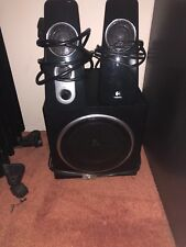 Logitech 40Watt Speaker System. System Components. 2 speakers, subwoofer.