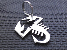 ABARTH SCORPION keyring FIAT 124 PUNTO 500 595 131 X1/9 CROMMODORA emblem badge
