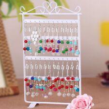 48 Hole Earrings Jewelry Display Rack Metal Stand Holder Showcase White New