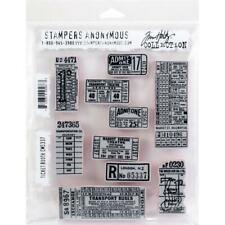 Stampers Anonymous Tim Holtz Cling Stamp Set Ticket Booth Cms337