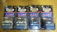 Set of 4 (Series 1) Vintage Matchbox D.A.R.E. Collection Police Departments