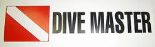 Scuba Diving Bumper Sticker Dive Master DS89