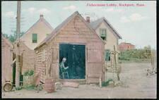 ROCKPORT MA Fisherman's Lobby Antique Mass Postcard