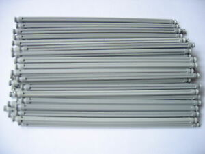 Group of 10 long grey rods 19cm Straight K'NEX Pieces.