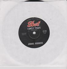 """JIMMIE RODGERS - LONELY TEARS - 7"""" 45 RECORD"""