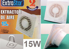 Aspiratore aria 15W da muro.Estrattore da parete per odori, fumo, bagno, WC,etc