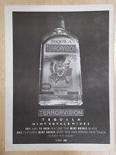 TERRORVISION Tequila 1999 STAMPA PUBBLICITARIA FULL PAGE 30 x 40 cm MINI POSTER