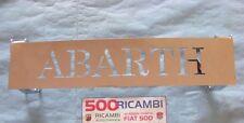 FIAT 500 F/L/R ALZACOFANO MOTORE METALLO CROMATO ALZA COFANO CON SCRITTA ABARTH