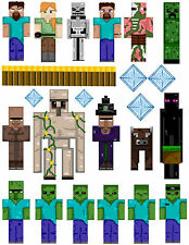 Minecraft Magnet Set Locker/Fridge Magnets Durable & Waterproof