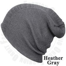 018cb1d9a156f Beanie Plain Knit Hat Winter Warm Cap Cuff Slouchy Skull.