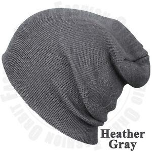 Beanie Cap Plain Knit Ski Skull Hat Cuff Winter Solid Warm Slouchy Men Women Hat