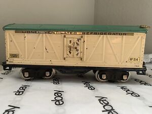 Lionel No. 514 Ventilated Refrigerator Car - Standard Gauge
