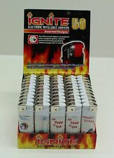 More details for new wholesale bulk purchase 50 x ignite funny electronic refillable lighters