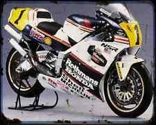 Honda Nsr500 1989 1 A4 Metal Sign Motorbike Vintage Aged