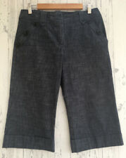 NEXT Navy Cropped Trousers with Pockets and Turn-ups Size 12