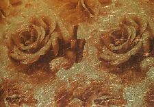 YORK SPARKLE GLITZ BROWN & GOLD FLORAL / ROSES wallpaper Double Roll