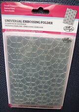 Embossing Folder, Craft Concepts Ornate Treasures Collection, Stained Glass, New