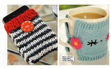 KNITTING PATTERN STRIPY IPHONE COVER HOME ACCESSORY MUG HUG EASY QUICK KTM M12A