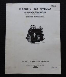 1943 WWII BENDIX SCINTILLA SB SF4 AIRCRAFT MAGNETO SERVICE MANUAL P 38 39 40 63