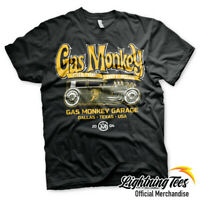 Official Gas Monkey Garage Green Hot Rod GMG Fast N Loud T-Shirt
