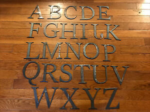 Steel Metal Letters & Numbers - 4.5 Inch Modern Antique Rustic Décor 1/8 Thick