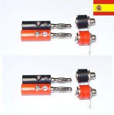 Banana plugs conector 4 piezas macho más 4 piezas hembra (4mm) 34