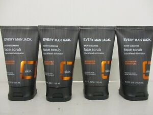 4 EVERY MAN JACK / FACE SCRUB / SKIN CLEARING /  4.2 FL. OZ. EXP:12/22+  BB 2908