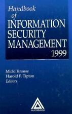Handbook of Information Security Management, 1999 Edition