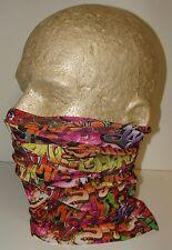 graffiti rainbow biker durag face mask beanie skull cap multi function scarf