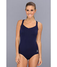 TYR SOLID HALTER CONTROLFIT T BACK ONE PIECE SWIMSUIT NAVY BLUE SIZE 24 NEW! $73
