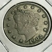 1902 LIBERTY NICKEL BETTER GRADE COIN