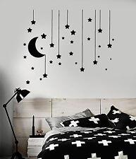 Vinyl Wall Decal Stars Crescent Moon Dream Bedroom Ideas Stickers (ig4833)