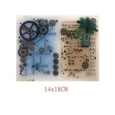 Gear DIY Silicone Clear Stamp Cling Seal Scrapbook Embossing Album Decor Crafts