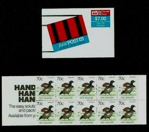 New Zealand: 1988 Fast Post stamp booklet, 70c (bird) x 10 SB48